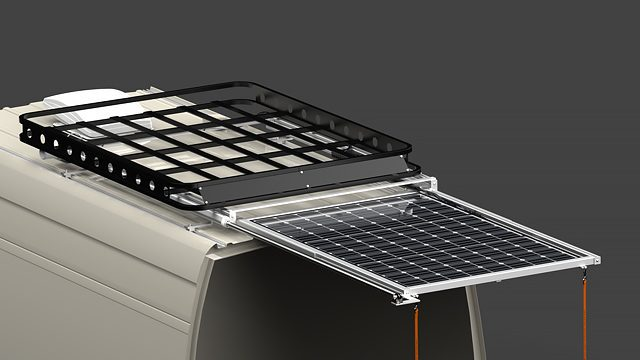 SR1R Series Sliding Solar Panel Rack System