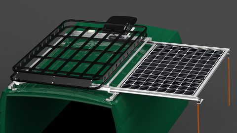 SR1S Series Sliding Solar Panel Rack System