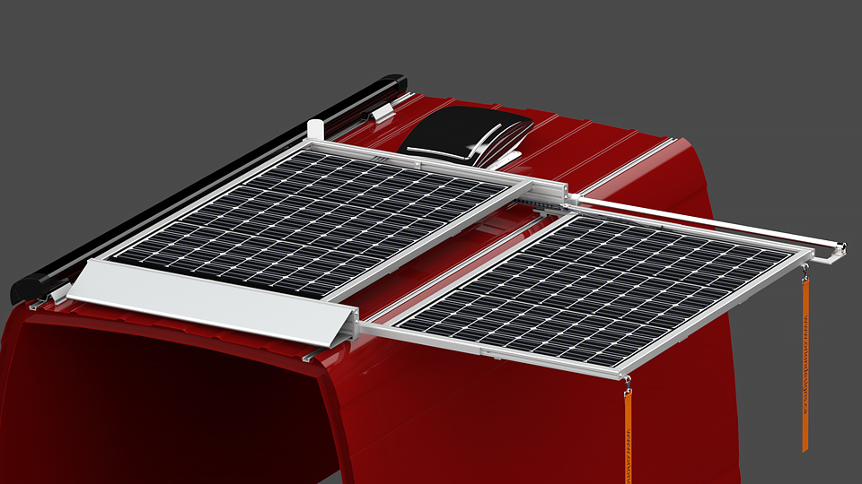 SR2S Series Sliding Solar Panel Rack System