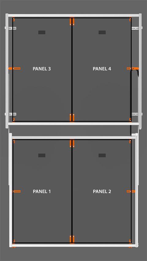 PV Array Bracket Kit (SR2R Series) - Vertical Orientation