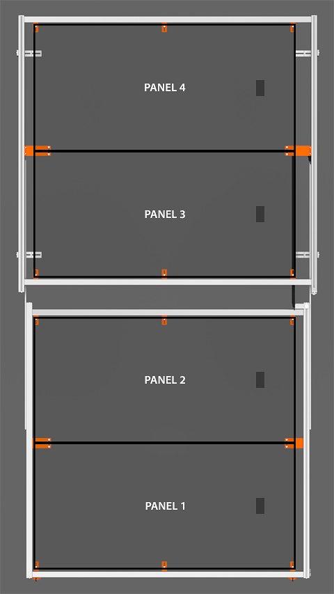 PV Array Bracket Kit (SR2R Series) - Horizontal Orientation
