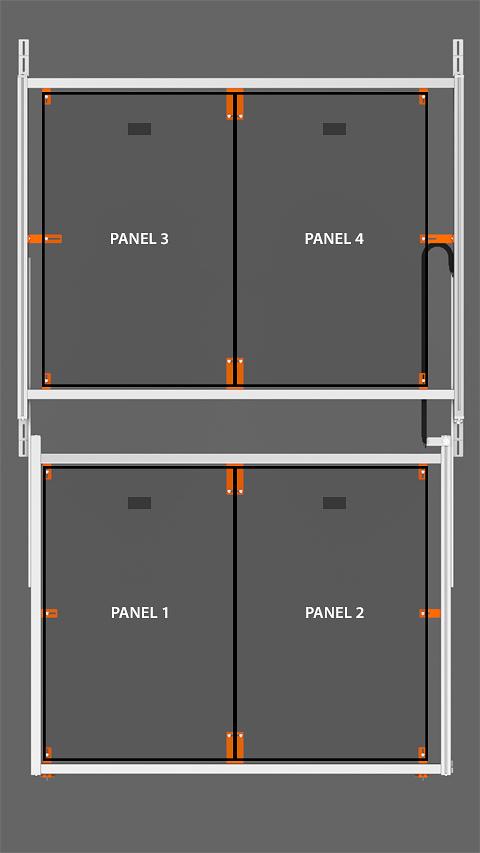 PV Array Bracket Kit (SR2S Series) - Vertical Orientation