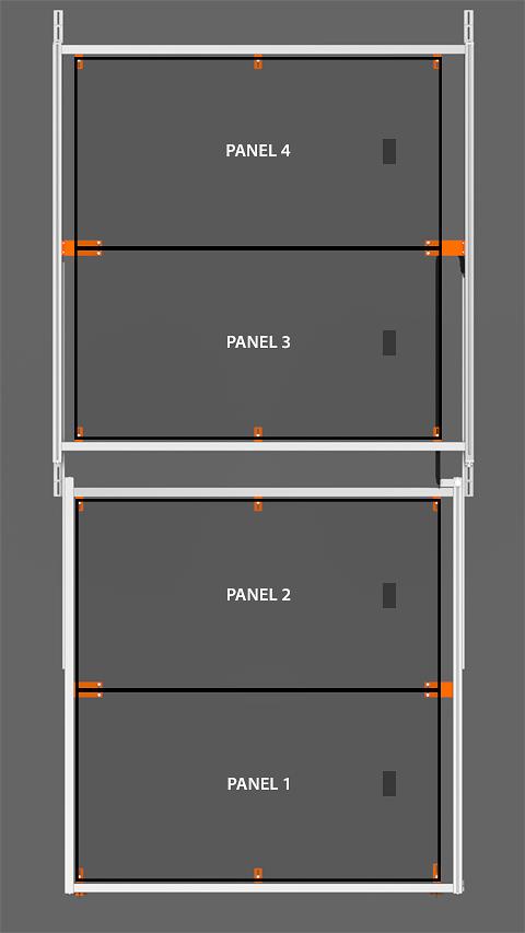 PV Array Bracket Kit (SR2S Series) - Horizontal Orientation