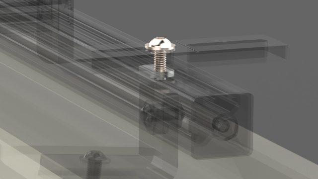 Mounting Fasteners: Sliding Solar Panel Rack Kit to T-slot Rails