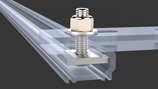 """Mounting Hardware Kit: Mercedes Sprinter (VS30/NCV3) OEM Roof Rail, 1.25"""" Bolt"""